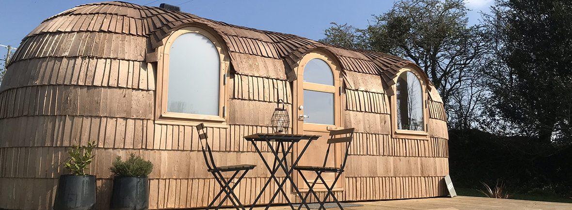 Lydcott Glamping Iglucraft cabins in Cornwall