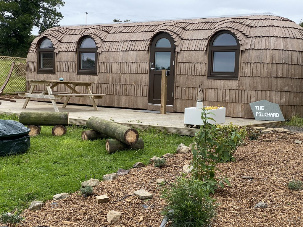 The Pilchard cabin Lydcott Glamping Cornwall
